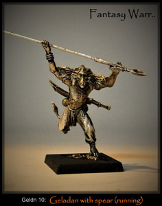 Geladan Warrior w. running spear