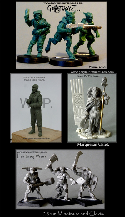 New Figures by Gary Hunt