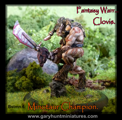 Clovis Beastmen hero 3 pack